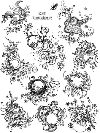 Sketchy Decorative Elements Vector and Photoshop Brush Pack-05