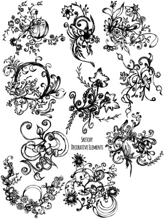 Sketchy Decorative Elements Vector and Photoshop Brush Pack-08
