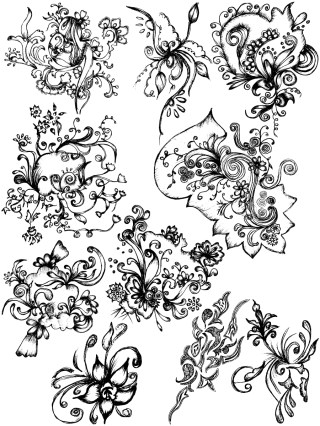 Sketchy Decorative Elements Vector and Photoshop Brush Pack-10
