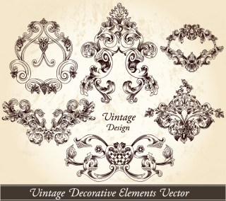 Vintage Decorative Elements Vector and Photoshop Brushes 01