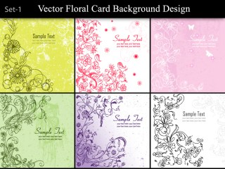 Vector Floral Card Background Designs