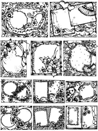 Hand Drawn Sketch Frames Vector and Photoshop Brush Pack-01
