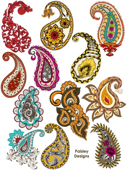 Hand Drawn Paisley Designs Vector and Photoshop Brush Pack-02