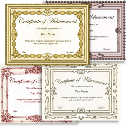 Certificate Border Template Vector and Photoshop Brush Pack-02
