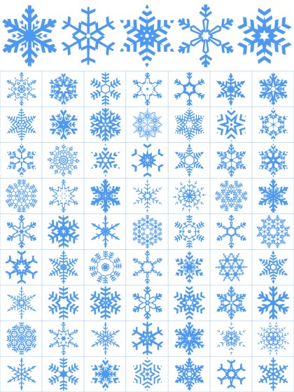 Snowflakes Vector and Photoshop Brush Pack-01