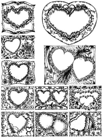 Sketchy Heart Vector and Photoshop Brush Pack-01