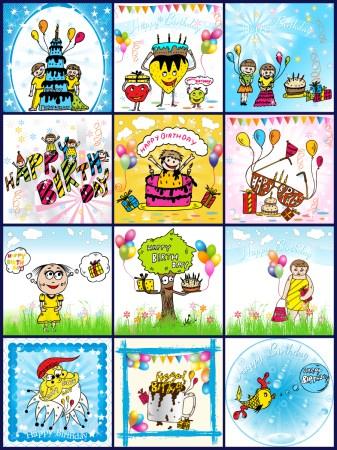 Birthday Background Vector Pack-01