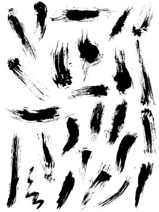 Paint Brush Strokes Vector and Photoshop Brush Pack-02