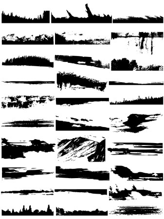 Grunge Edges Vector and Photoshop Brush Pack-01
