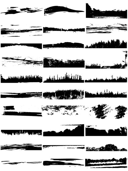 Grunge Edges Vector and Photoshop Brush Pack-02