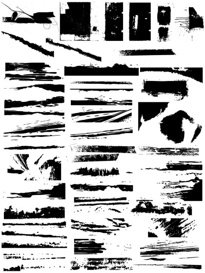 Grunge Edges Vector and Photoshop Brush Pack-03