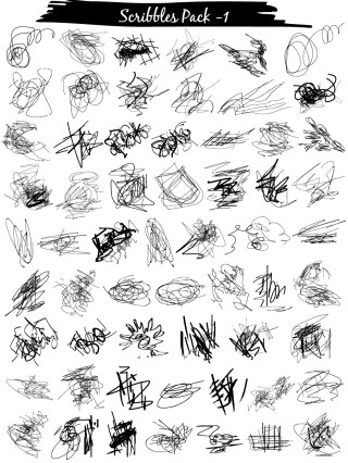 Scribble Vector and Photoshop Brush Pack-01