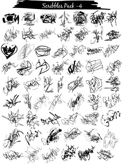 Scribble Vector and Photoshop Brush Pack-04