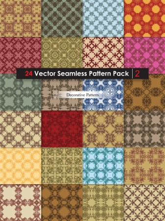 Decorative Ornament Vector and Photoshop Pattern Pack-02