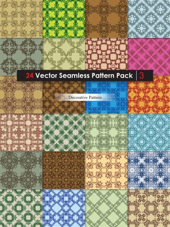 Decorative Ornament Vector and Photoshop Pattern Pack-03
