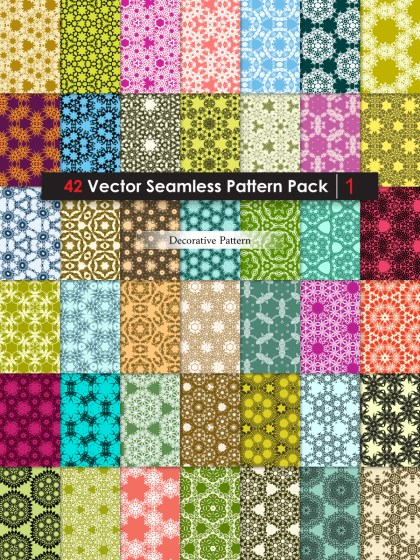 Ornament Vector and Photoshop Pattern Pack-01