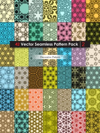 Ornament Vector and Photoshop Pattern Pack-02