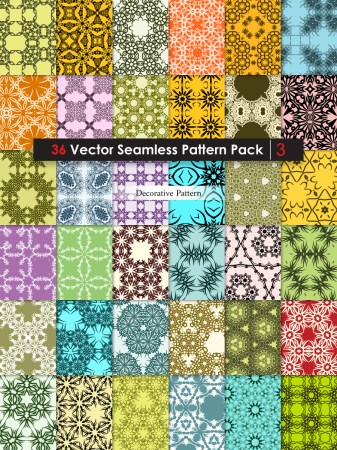 Ornament Vector and Photoshop Pattern Pack-03