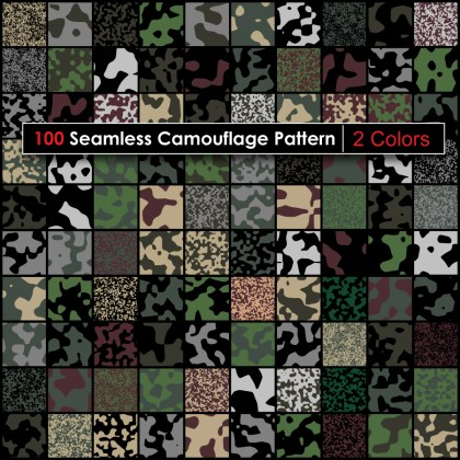 2 Color Camouflage Pattern Pack