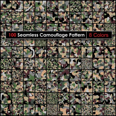 8 Color Camouflage Pattern Pack