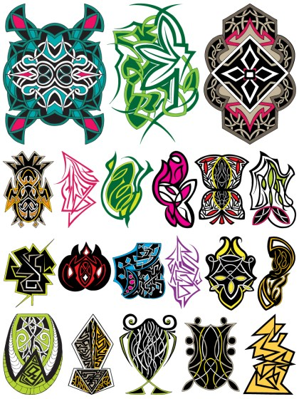 Celtic Ornaments Vector and Photoshop Brush Pack-01