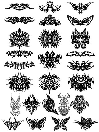 Tribal Tattoo Designs Vector and Photoshop Brush Pack-01