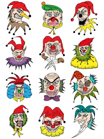 Clown Vector Pack-01
