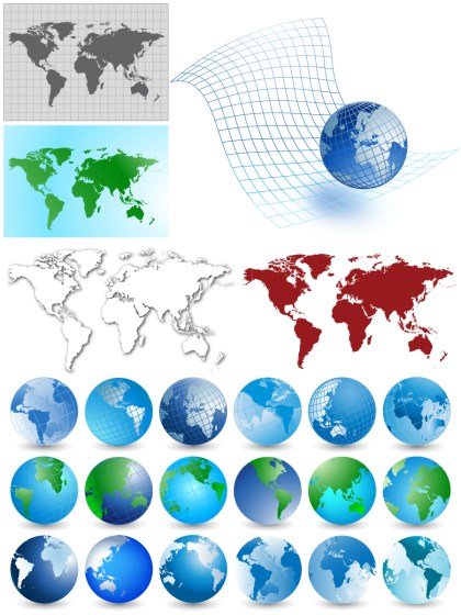 World Maps Vector Pack