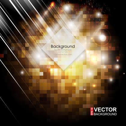 Black Orange Square Background Vector