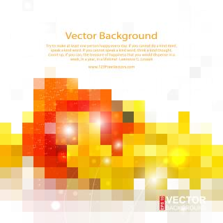 Red Yellow Geometric Square Background Image