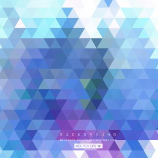 Blue Geometric Triangle Background Template