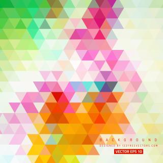 Colorful Abstract Triangle Background Image