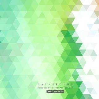 Green Abstract Triangle Background Illustrator