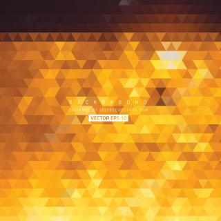 Orange Geometric Triangle Background Illustrator