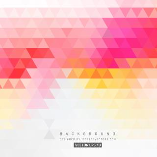 Pink Yellow Triangle Background