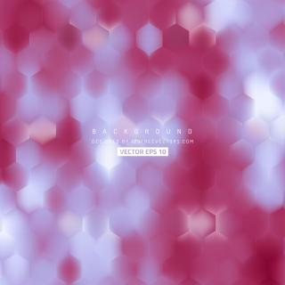Abstract Light Blue Red Hexagon Background