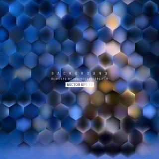 Dark Blue Hexagon Background Template