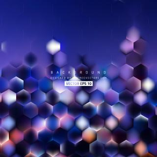 Dark Blue Hexagon Background