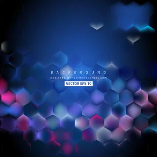 Navy Blue Hexagon Background