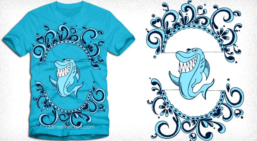 Shark T-Shirt Design Vector