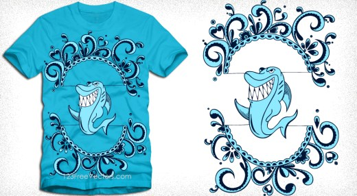 Shark T-Shirt Design Vector
