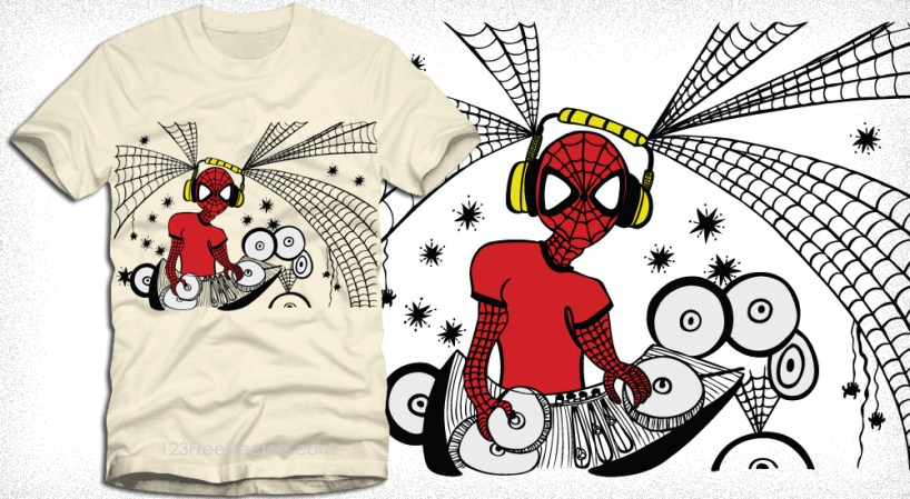 Apparel Vector T-Shirt Design with Spiderman