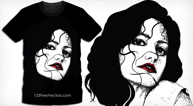 Vector Graphics T-Shirt Design with Beautiful Girl