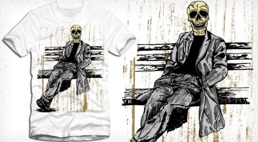 Skull Man Vector T-Shirt Graphics Design