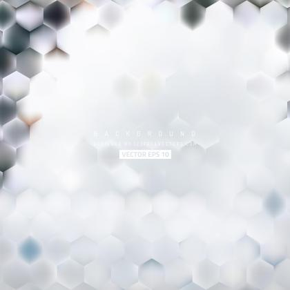 Abstract Light Gray Hexagon Geometric Background