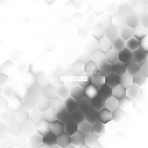Light Gray Hexagon Pattern Background Design