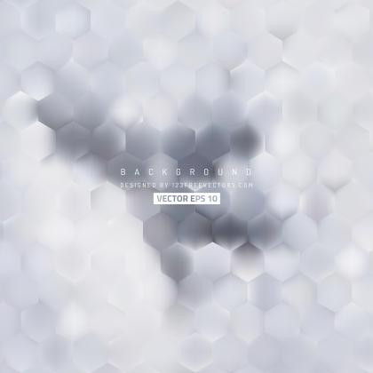 Abstract Light Gray Hexagon Pattern Background Design