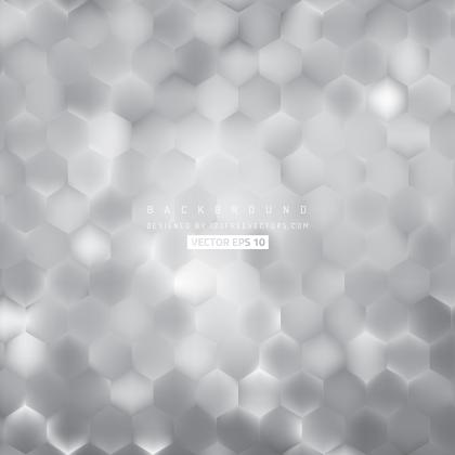 Light Gray Hexagon Background Template