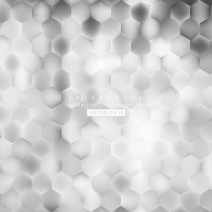 Abstract Light Gray Hexagon Background
