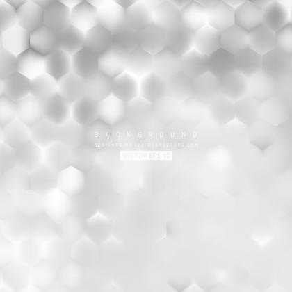Abstract Light Gray Hexagon Background Template